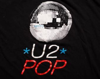 U2 Pop Spec's Music Store Promo T-Shirt, Bootleg Graphic Tee, Vintage 90s, Disco Ball, Bono Rock Music Band Apparel, Soft