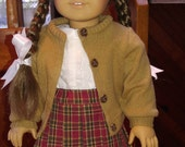 CAMEL Cardigan Sweater 18 inch doll clothes