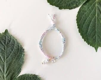 Liberty of London Charm Bracelet for Little Girls, Adjustable Size, Kitty Charm, giddyupandgrow