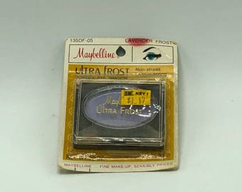 Vintage Maybelline Ultra Frost Powder Eye Shadow Lavender Purple NOS Makeup
