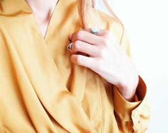 Golden yellow blouse - 1980