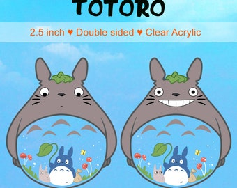 "PRE-ORDER My Neighbour Totoro Acrylic Keychain 2.5"" clear charm"