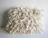 Finger Knit Shaggy Wool Pillow