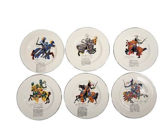 Mid Century Collectible Plates - Knights of England Set of 6