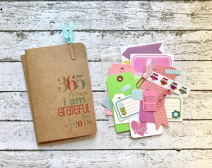 Featured listing image: Gratitude Journal . Field Notes Notebook Insert Pocket Micro Midori Fauxdori Standard Travelers Refill . 2018 Faith Grateful Thankful
