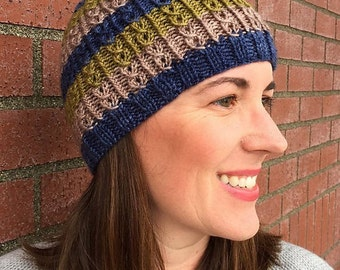 FIgure 8 Beanie Knitting Pattern