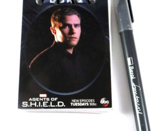 Agents of Shield Leo Fitz Upcycled Trading Card Book Notebook