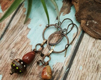 Gourd - Art Earrings inspired by Nature