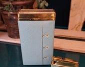 Lady Buxton Blue Leather Cigarette Case & Lighter