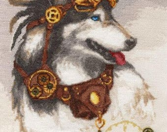 NEW UNOPENED Counted Cross Stitch Kit Golden Fleece LS-004 The Guardian of Time