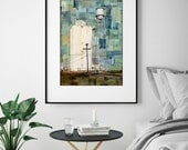 "Agricultural Print, Industrial Art Print, Water Tower Print, Mixed Media Print, Colorado Print, 8""x10"" or 11""x14"", ""Sugar Mill Remains"""