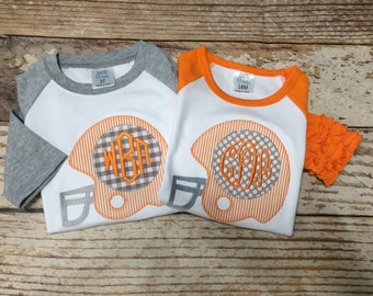 Football shirt, boys football shirt, girls football shirt, monogrammed children's football shirt, tennessee vols shirt, baseball shirt,