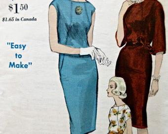 Vintage Vogue 5929 Sewing Pattern, 1960s Shift Dress Pattern, Bust 32, 1960s Sewing Pattern, Sleeve Variations, Seam Interest Dress