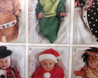 Vintage McCall's 7936 Sewing Pattern, Baby Halloween Costumes, Infant Costumes, Bunting Costumes, Snow Baby, Santa Baby, Dinosaur Costume