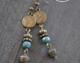 Boucles d'oreilles gypsy - Bijou bronze - Coco Matcha