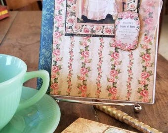 Victorian Rose Stationary Set