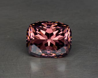 Luscious Red Wine Berry Colored Cubic Zirconia, Loose Lab Created Precision Faceted Modern Cushion Gemstone
