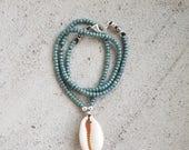 Beachy Shimmery Blue Bead...