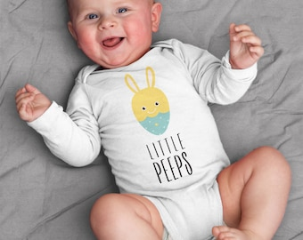 Easter Baby Clothes, Little Peeps Baby Bodysuit Romper One Piece for Baby Boy or Baby Girl, Easter Baby Shower Gift