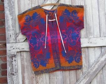 surfu0027s up vintage terry cloth shirt menu0027s hawaiian shirt 1970u0027s hippie shirt