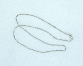 "Curb Chain 18"" Silver Plated 2mm width Lobster Claw Clasp"