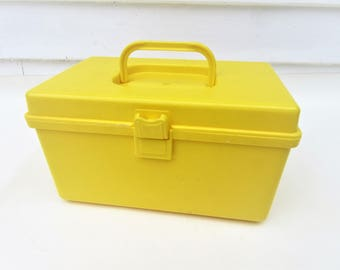 Vintage Sewing Box   Sewing Kit   Craft Organizer   Plastic Storage Container