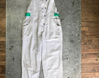 fiorucci flannel jumpsuit 1980's, made in Italy