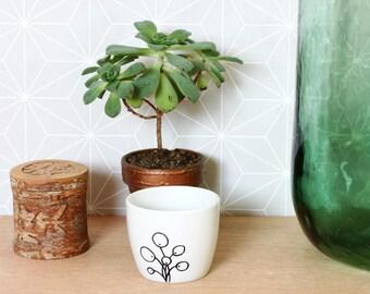 Pilea cup - Pilea peperomioides dip bowl - Planter
