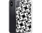 Human Skull Pattern iPhone Case