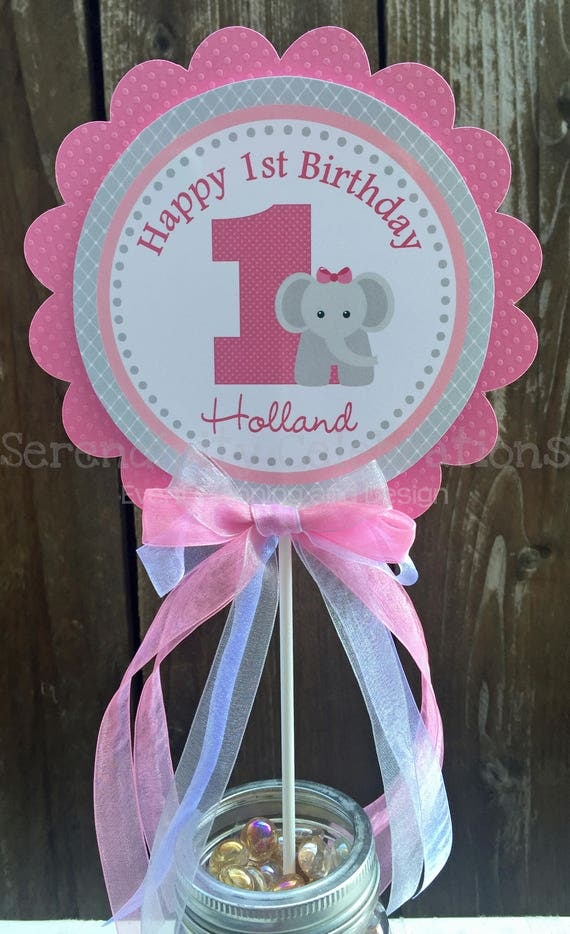 Elephant Diaper For S In Pink And Gray Theme Baby Shower Centerpiece Chevron