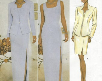 Rimini Womens Evening Gown & Jacket or Cocktail Jacket and Dress  Butterick Sewing Pattern 5389 Size 18 20 22 Bust 40 42 44  FF