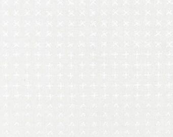 Blueberry Park Sprouting Row in Snow, Karen Lewis Textiles, Robert Kaufman Fabrics, 100% Cotton Fabric, AWI-15752-87 SNOW