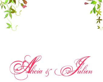 Livre d'or floral mariage alternatif panneau personnalisé signatures de vos invités
