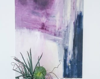 Ultraviolet Purple and Blue Abstract - Modern Contemporary Fine Art Original Acrylic on Canvas
