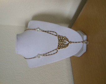 Vintage Avon Butterfly Fantasy Necklace/Vintage butterfly necklace with drop crystal/vintage avon butterfly necklace/womens butterfly neckla