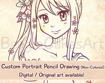 Custom Anime Portrait, Anime Style Art, Personalized Drawing, Custom Caricature, Anime Commission, Custom Portrait, Custom Illustration