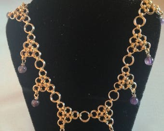 Amethyst Triangles Necklace