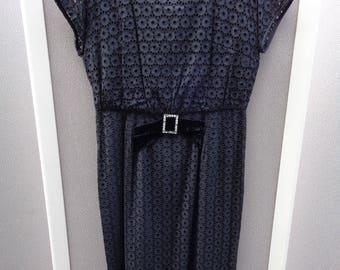 Great 1950's Black Cotton Dress