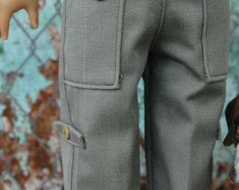 American, Made, boy, girl, doll, fit 18 inch, cargo, pants, doll clothes