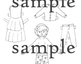 Loki Paper Doll Printable - color and cut out, print at home