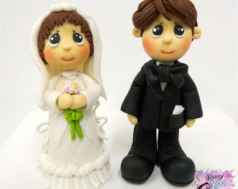 Bride And Groom Cake Topper (Precious Moments Inspired)