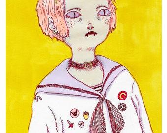 Vampire girl - print