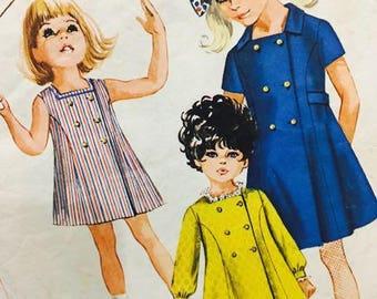 Simplicity 8071 Girls Size 12 Dress 1968