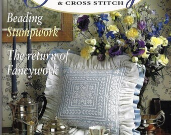 AUSTRALIAN EMBROIDERY and Cross Stitch-Volume 4 No. 1 from 1998 Beaitiful Heirloom Projects to Stitch