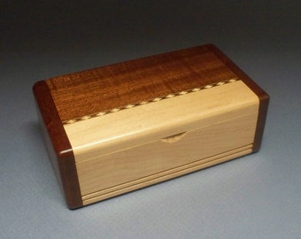 Small Wooden Box, Watch Box, Corporate Gift, Wedding Gift, Best Man Gift