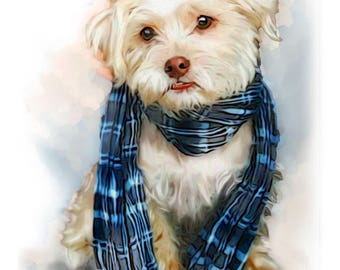 Custom Dog Digital Print