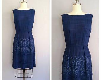Madeline dress | 1950s cobalt blue dress | vintage 50s wiggle dress | s