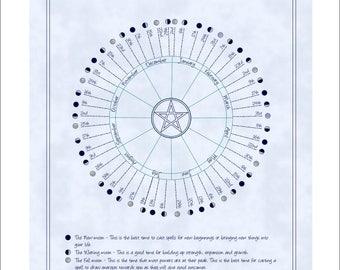 Digital Moon Phase Lunar Calendar 2018