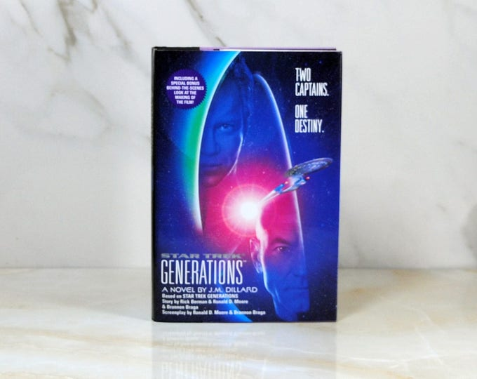 Vitage Star Trek Generations, Hardback, 1994, James Kirk, Jean-Luc Picard, Crossover, USS Enterprise, Two Captain, Dillard, Mad Scientist