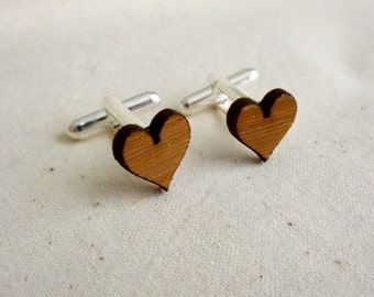Cufflinks - Wedding cufflinks - Wood Cufflinks - Rustic Wedding - lasercut wooden cufflinks - 5 year anniversary - groom cufflinks